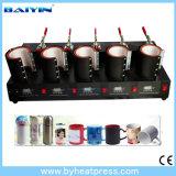 Máquina de la prensa del calor de la taza de cinco estaciones
