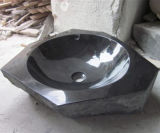 Évier noir G654, noir de salle de bains de lavabo de granit de Shanxi