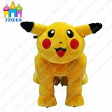 Bimbo Toy Battery Coin Operated Pikachu Animal Scooter da vendere