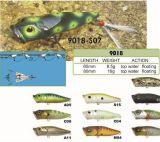 Premier attrait 80mm de flottement de pêche du palan de pêche de Popper de l'eau 65mm
