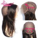 Frontal brasileño al por mayor del cordón del pelo de la Virgen 13X4 con el casquillo