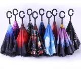 Parapluie inversé à vent imperdable Chuva C-Hook parapluie inversé, parapluie avec poignée C