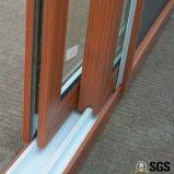 Окно цветастого UPVC профиля хорошего качества сползая, окно UPVC, окно K02089