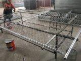 4FT, 6FT, 8FT Höhen-Ineinander greifen 60mm x 60mm x 3.00mm Kettenlinktemp-Zaun-Panels