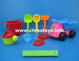 Brinquedo ajustado do carro plástico da praia. Cubeta da praia do brinquedo do verão, pá (1014408)