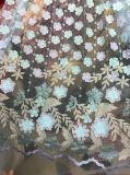 Ткань шнурка горячих сбываний сетчатая с тканью цветков шариков 3 d грациозно для Wedding платье /Party