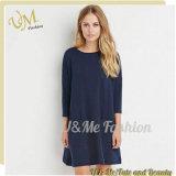 長い袖の綿の女性の女性ワイシャツの服