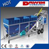 25m3/Hour 트럭 이동할 수 있는 움직일 수 있는 소형 콘크리트 1회분으로 처리 섞는 플랜트