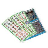 자동 접착 은 스티커 또는 금박지 각인이 OEM를 인쇄하는 풀 컬러에 의하여 레테르를 붙인다