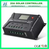 contrôleur système d'énergie solaire d'affichage à cristaux liquides de 12V/24V 20A USB (QWP-SR-HP2420A)