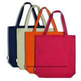 OEMの農産物のロゴによって印刷される昇進の多彩な綿のキャンバスのトートバックのハンド・バッグ