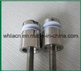 Contactos de cristal del aislamiento del satén del corchete de la barandilla de la escalera del acero inoxidable (38 milímetros)