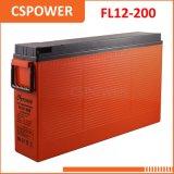 Batteria sottile dell'UPS delle Telecomunicazioni terminali di accesso anteriore del rifornimento 12V200ah della Cina & del gel solare