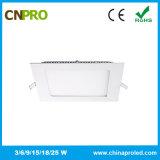 IP44 ultra dünne quadratische Instrumententafel-Leuchte der Form-18W LED