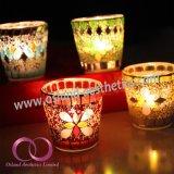 ホーム装飾のための多彩な現代モザイク・ガラスの蝋燭ホールダーの蝋燭のコップ