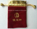 Jy-Vp06 Duas cores de veludo Jóias Gift Drawstring Pouch Bag