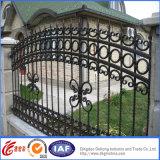 Cercado decorativo de la seguridad del hierro labrado de la alta calidad