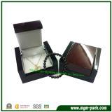 Коробка роскошных ювелирных изделий 2 цветов деревянная