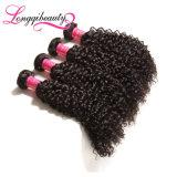 Hochwertige Jungfrau indische Remy Afro-verworrenes Haar-Webart