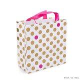 Мешок печатание многоточий польки золота фольги бумажный, бумажный мешок подарка, мешок искусствоа бумажный