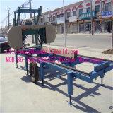 Machine van de Lintzaag van de Prijs van Shandong van Zouping de Beste Draagbare Horizontale Houten
