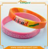 Wristband di gomma ecologico personalizzato del silicone