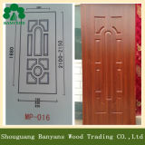 Sapele/Beech/Walnut/Okoume Wood Grain Veneer MDF Door Skin with Different Panel