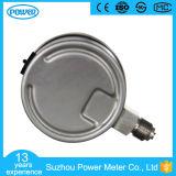 plein type manomètre de bas d'acier inoxydable de 2.5inch-63mm d'indicateur de pression de 100psi
