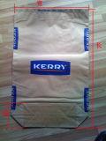 正方形の最下のクラフト紙袋、粉乳袋のセメント袋