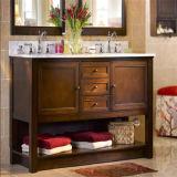 Einfacher doppelte Wannen-hölzerner Badezimmer-Schrank