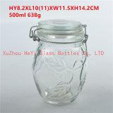 ガラス食糧瓶のガラスふたが付いているガラスシールの瓶650ml