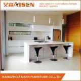 オーストラリアの市場の島デザインの白い光沢のあるラッカー食器棚