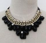 De manier Geparelde Halsband van de Nauwsluitende halsketting van de Namaakbijouterie van het Kristal (JE0157)