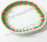 Bracelet en épi fabriqué à la main coloré en caoutchouc de silicones