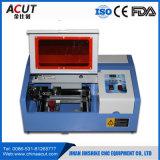 Mini precio de la máquina del sello de goma del laser del CO2 40W