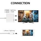 Câble neuf de foudre de l'iPhone HDMI d'arrivée pour l'iPhone