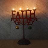 Support de bougie de Noël, support de bougie de lumière de thé de moulage de foi