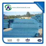'' acoplamiento de alambre hexagonal del PVC 0.55/0.90mmx3/4, alambre de pollo, acoplamiento de alambre de pollo