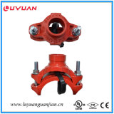 Te mecánica Grooved FM/UL del hierro dúctil de las instalaciones de tuberías del fuego aprobada