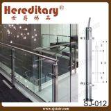 ステンレス鋼の手すり(SJ-016)が付いているガラス手すり階段柵