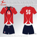 Healongのベストセラーのスポーツ・ウェアのチームクラブ昇華男子サッカージャージー