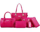 6PCS in 1 signora poco costosa stabilita Handbag, materiale del Tote di prezzi del cuoio del sacchetto della donna