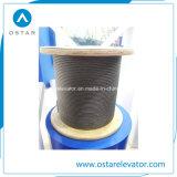 Cuerda de alambre de acero calificada para el elevador de alta velocidad usado (OS26)