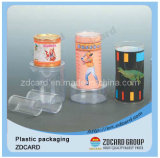 Caixa desobstruída do PVC do círculo com a caixa de bolo do copo do indicador