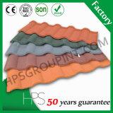 Telha de telhado revestida do metal da pedra colorida de pouco peso do material de telhadura