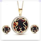 De Reeks van de Juwelen van het Roestvrij staal van de Toebehoren van de Manier van de Juwelen van het kristal (JS0114G)