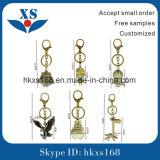 Кольцо специального изготовленный на заказ металла ключевое с кожей