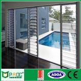Auvent en verre en aluminium Windows de salle de bains