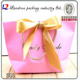 Brown Kraft Print Paper Shopping Gift Hand Promotional Revestido Art Paper Carrier Cosmetic Jewelry Packing Bag com algodão Nylon Rope (F60)