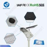 Lâmpada de rua solar de alta eficiência com bateria de iões de lítio de alta capacidade